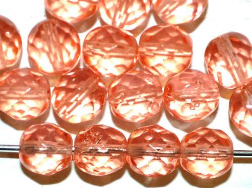 Best.Nr.:s-0001 facettierte Glasperlen  apricot transp.,  hergestellt in Gablonz / Tschechien