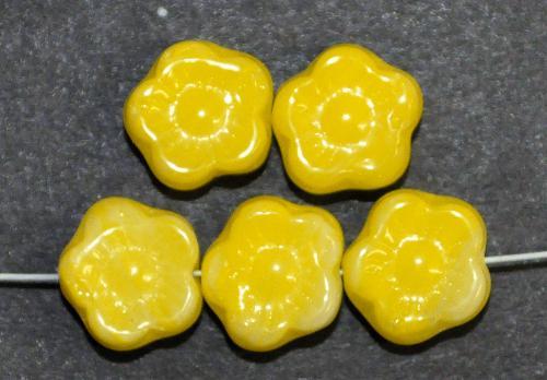 Best.Nr.:s-0002  Glasperlen Blüten,  gelb,  hergestellt in Gablonz Tschechien,