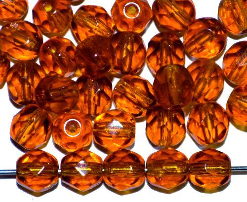 Best.Nr.:s-0013 facettierte Glasperlen topas transp., hergestellt in Gablonz / Tschechien