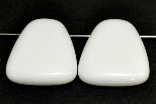 Best.Nr.:s-0069  Glasperle,  weiß opak,  hergestellt in Gablonz / Tschechien