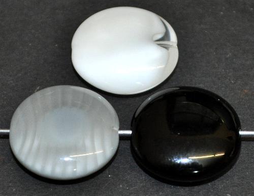 Best.Nr.:s-0070  Glasperle große Linsen,  Farbmix,  hergestellt in Gablonz / Tschechien