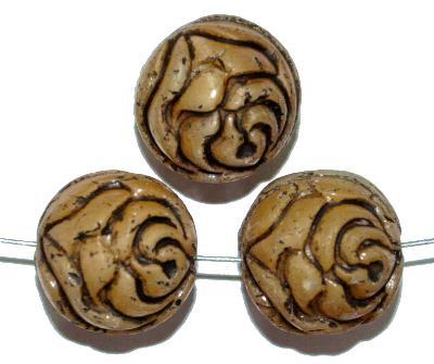Best.Nr.:59089 vintage style Glasperlen ,Rosenblüte , nach alten Vorlagen aus den 1920 Jahren in Gablonz/Böhmen neu gefertigt,