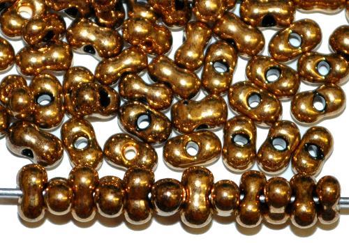 Best.Nr.:00820  Farfalle Rocailles von Preciosa Tschechien,  metallic messing