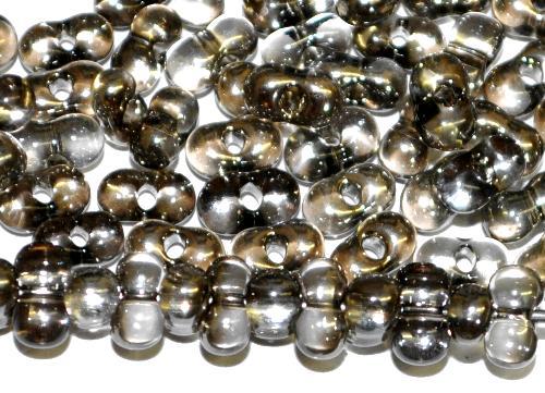 Best.Nr.:00854  Farfalle Rocailles von Preciosa Tschechien,  kristall metallic platin