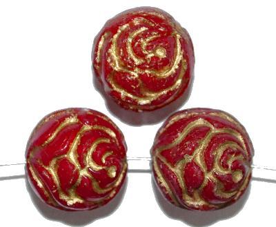 Best.Nr.:59163 vintage style Glasperlen ,Rosenblüte , nach alten Vorlagen aus den 1920 Jahren in Gablonz/Böhmen neu gefertigt,