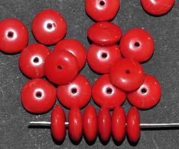Best.Nr.:63623 Glasperle Linsen, 1930/40 in Gablonz/Böhmen hergestellt, rot