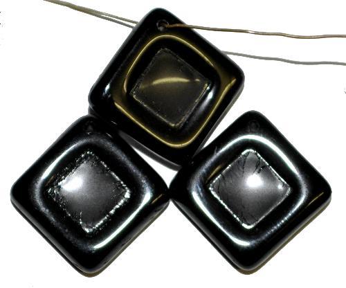 Best.Nr.:s-0099  Glasperlen Quadrate,  schwarz,  hergestellt in Gablonz Tschechien,