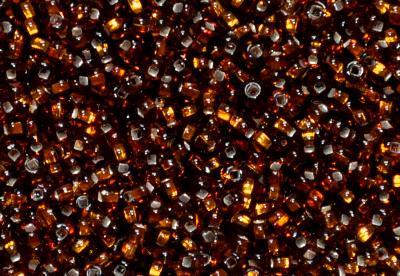 Best.Nr.:15051 Rocailles von Ornella Preciosa Tschechien, topas mit Silbereinzug