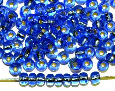 Best.Nr.:41067 Rocailles von Preciosa Ornella Tschechien hergestellt,  türkis mit Silbereinzug