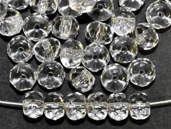 Best.Nr.:27597 Linse kristall mit facettiertem Rand