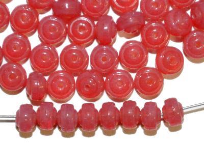 Best.Nr.:47050 Glasperlen Linse, rosa opal, hergestellt in Gablonz / Tschechien,