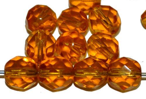 Best.Nr.:s-0104 facettierte Glasperlen  topas transp.,  hergestellt in Gablonz / Tschechien