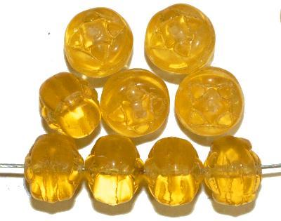 Best.Nr.:s-0037 Glasperlen, gelb transp.,  hergestellt in Gablonz Tschechien,