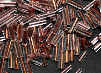 Best.Nr.:63748 Glasperlen in den 1940/50 Jahren in Gablonz/Böhmen hergestellt kristall mit Kupfereinzug