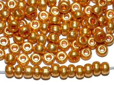 Best.Nr.:07003  Rocailles von Ornella Preciosa Tschechien,  metallic gold