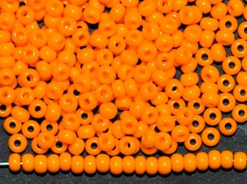 Best.Nr.:01114 Rocailles von Ornella Preciosa Tschechien,  orangegelb opak