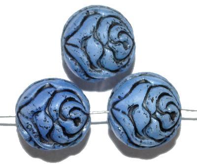 Best.Nr.:59192 vintage style Glasperlen ,Rosenblüte , nach alten Vorlagen aus den 1920 Jahren in Gablonz/Böhmen neu gefertigt,