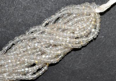 Best.Nr.:62043 3-Cutbeads in den1920/30 Jahren in Gablonz/Böhmen hergestellt,  kristall leicht getönt mit light AB
