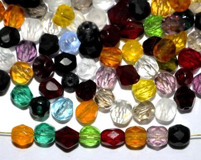 Best.Nr.:42113 Glasperlen facettiert Mix B-Sortierung, hergestellt in Gablonz / Tschechien
