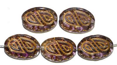 Best.Nr.:59228 Antik style Glasperlen,  nach alten Vorlagen  aus den 1920 Jahren neu gefertigt,  mit gold finish