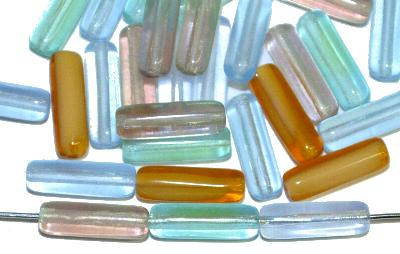 Best.Nr.:s-0072 Glasperlen Stäbchen,  Farbmix,  hergestellt in Gablonz / Tschechien