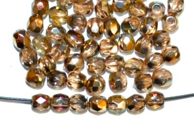 Best.Nr.:28097 facettiert Glasperlen, kristall mit metallic finish, hergestellt in Gablonz / Tschechien