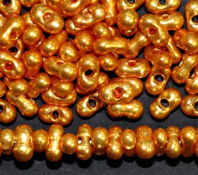 Best.Nr.:00824 Farfalle Rocailles von Preciosa Tschechien, goldfarben