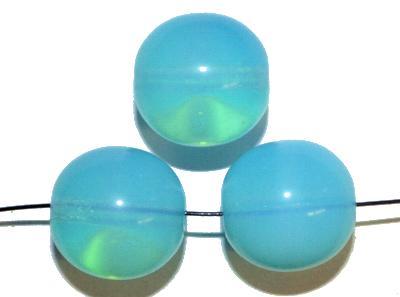Best.Nr.:22456 Glasperlen rund,  Opalglas tütkis, hergestellt in Gablonz / Tschechien