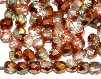 Best.Nr.:28342 facettierte Glasperlen kristall mit Kupfer Veredelung