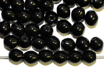 Best.Nr.:22316  Glasperlen Doppelkegel,  schwarz opak,  hergestellt in Gablonz / Tschechien