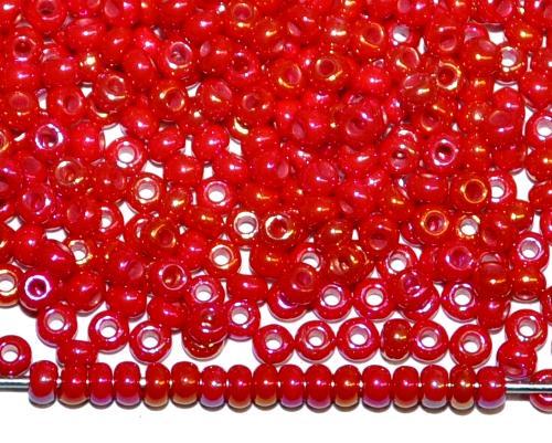 Best.Nr.:02007 Rocailles von Ornella Preciosa Tschechien, rot opak irisierend AB