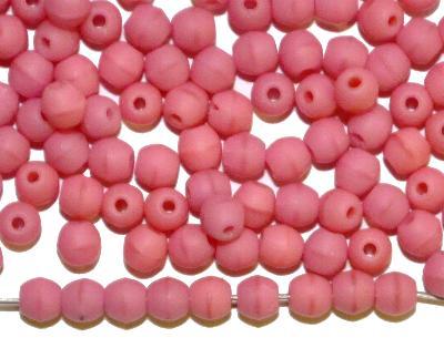 Best.Nr.:22230 Glasperlen rund rosa mattiert (frostet), hergestellt in Gablonz / Tschechien,