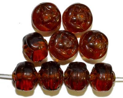 Best.Nr.:s-0055 Glasperlen, braun transp.,  hergestellt in Gablonz Tschechien,