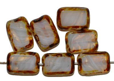 Best.Nr.:671171 Glasperlen / Table Cut Beads geschliffen, mit picasso finish