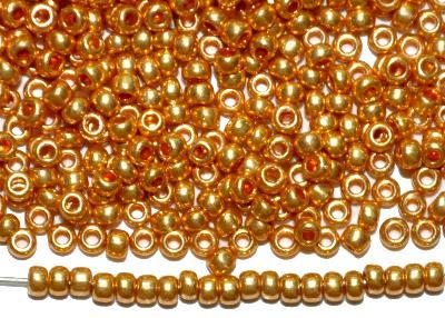 Best.Nr.:07006 Rocailles von Ornella Preciosa Tschechien,  metallic gold