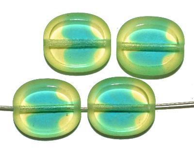 Best.Nr.:671390 Glasperlen geschliffen / Table Cut Beads, Hergestellt in Gablonz / Böhmen,