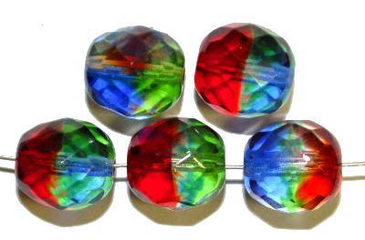 Best.Nr.:27348 facettierte Glasperlen  harleyquinn beads, hergestellt in Gablonz / Tschechien,