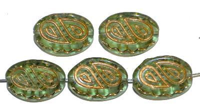 Best.Nr.:59227 Antik style Glasperlen,  nach alten Vorlagen  aus den 1920 Jahren neu gefertigt,  mit gold finish