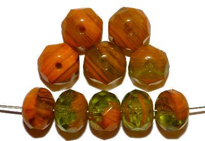 Best.Nr.:26171 Glasperlen Linse mit facettiertem Rand, hergestellt in Gablonz / Tschechien