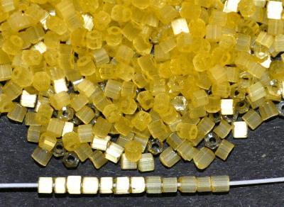 Best.Nr.:16032  Schnittperlen  Satinglas gelb,  hergestellt von Ornella Preciosa Tschechien