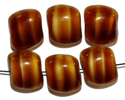 Best.Nr.:57135 Glasperlen Nuggets, tigerauge, Hergestellt in Gablonz / Böhmen