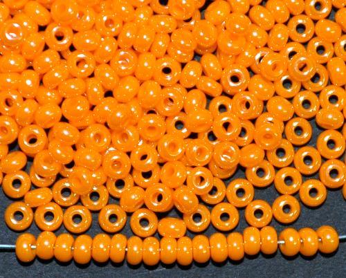 Best.Nr.:03012 von Ornella Preciosa Tschechien  orange /schimmernd (lüster)