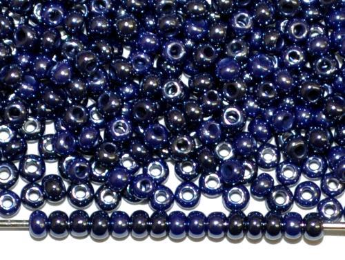 Best.Nr.:03029 Rocailles von Ornella Preciosa Tschechien, dunkelblau opak /schimmernd (lüster)