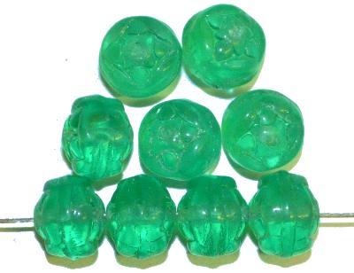 Best.Nr.:s-0013 Glasperlen, smaragdgrün transp.,  hergestellt in Gablonz Tschechien