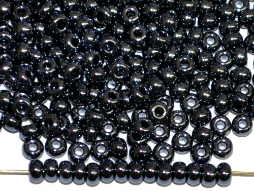 Best.Nr.:03051 Rocailles von Ornella Preciosa Tschechien,  schwarz opak /schimmernd (lüster)