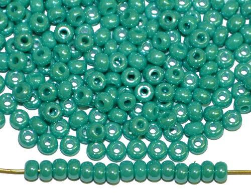 Best.Nr.:03053 Rocailles von Ornella Preciosa Tschechien,  türkisgrün opak /schimmernd (lüster)