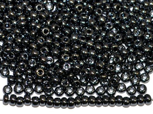 Best.Nr.:03064 Rocailles von Ornella Preciosa Tschechien,  schwarz opak /schimmernd (lüster)