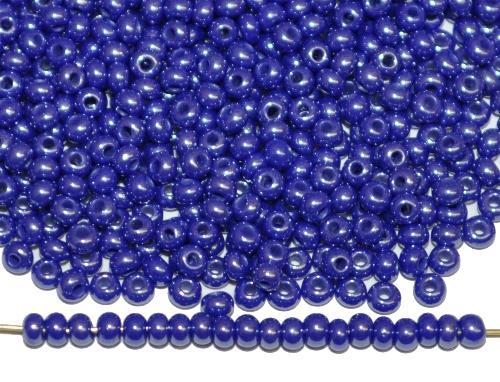 Best.Nr.:03065  Rocailles von Ornella Preciosa Tschechien,  dunkelblau opak /schimmernd (lüster)