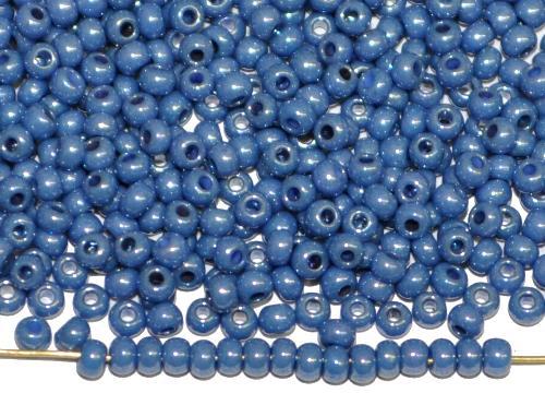 Best.Nr.:03081 Rocailles von Ornella Preciosa Tschechien,  schieferblau opak /schimmernd (lüster)