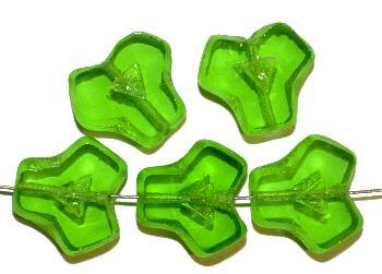 Best.Nr.:67817 Glasperlen / Table Cut Beads geschliffen, Rand der Perlen mattiert, hellgrün transparent